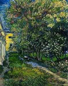Vincent Van Gogh - The Garden at the Asylum at Saint-Rémy (1889)