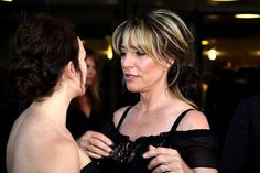 Maggie Siff speaking to Katey Sagal at the 'Sons of Anarchy' season 3 premiere by djtomdog, via Flickr