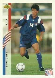 Brian Quinn of USA. 1994 World Cup Finals card.