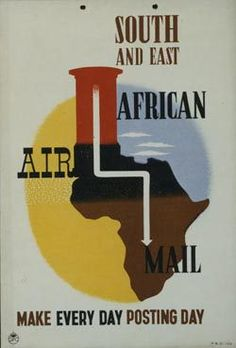 East Africa Air Mail Poster (British Postal Heritage)