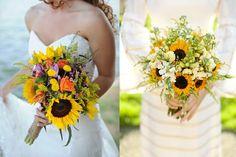 sunflower wedding bouquets | Friday Flowers: Sunflowers - Elizabeth Anne Designs: The Wedding Blog