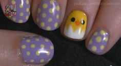 Chicky Nails nails nail polka dots pretty nails nail art nail ideas nail designs chick