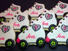 rollerskate cookies | SweetTweets - Roller Skate Cookies - Design Your Skate - 1 dozen