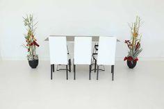 """Tisch """"Industry"""", Spice in Kombination mit Stühlen """"Nivo"""" in weiß"""
