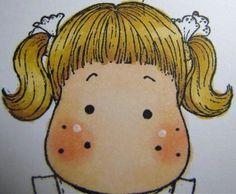 Blonde Hair #5  Copic's YR23, Y23, E35