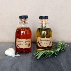 Spicy garlic oil and rosemary-infused olive oil are easy to make and will enhance almost any dish you make.