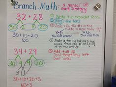 Branch math for addition and Singapore Math strategies.