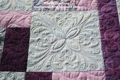 """Fantasy Feather"" Quilting Design by Kim Stotsenberg/Sew-n-Sew Quilting"