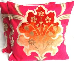 pink and orange pillow!