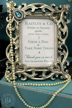 Candy Table Sign | The Candy Brigade | Candy Buffets | Sweet Sixteen Parties | Tiffany & Co.