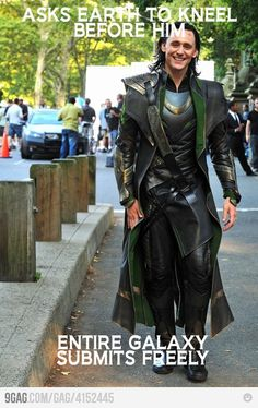 Ridiculously Photogenic Loki. Is it just me or is this guy gorgeous?     Not just you. I completely agree. And in the movie he is just plain BA! I <3 Loki.