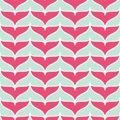 whale tail fluke chevron fabric by sef on Spoonflower - custom fabric