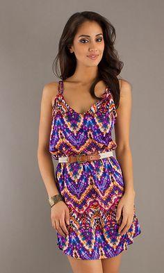 Purple Print Beach Dress