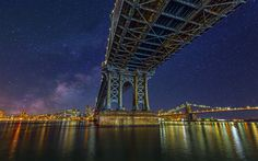 Stars and Colors of the Big Apple - Manhattan Bridge New York City - NY Photo and Retouch: Jackson Carvalho www.artedigitalstudio.com.br © 2014, All Rights Reserved