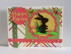 """Easter Card I created using CTMH Dotty For You Paper and """"Kate's ABC"""" Cricut Cartridge.  I love this cartridge.  It is so much fun."""