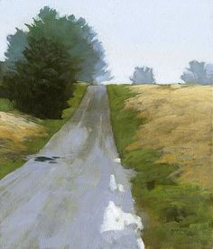 Boone County Blues Suite #4, 7 x 6 inches, oil on panel..marc bohne