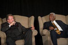 Bob Huggins and the Big O, Oscar Robertson celebrating Milt Kantor's birthday. Oscar Robertson, The Sporting Life, 85th Birthday, University Of Cincinnati, Cultural Events, Party Pictures, College Basketball, Bob, Culture