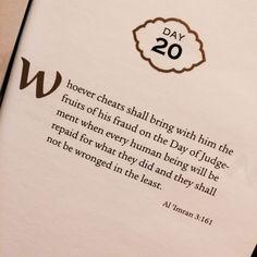 Quran 3:161 – Surat Al Imran