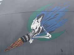 Nose art on AC-130A AF Serial No. 53-3129 at the USAF Armament Museum, Eglin AFB, Florida