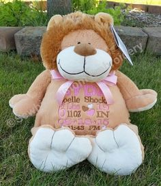 Personalized baby gift birth announcement best baby gift ever rory lion buddy personalized stuffed animal baby gift birth announcement animal negle Choice Image