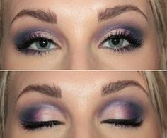 Purple and violet smokey eye. #goldenglobes makeup looks