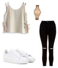 """Untitled #15"" by gabbyfuentes2001 on Polyvore featuring Chicwish, New Look, adidas and GUESS"