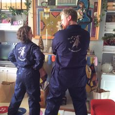 Embroidered boiler suits for the new bargees