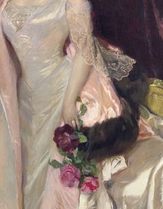 Mercédès Mendeville Countess of San Félix 1906 - Joaquín Sorolla y Bastida ou Joaquim Sorolla i Bastida - (Spanish : Victorian Paintings, Renaissance Paintings, Victorian Art, Renaissance Art, Art Vintage, Look Vintage, Classic Paintings, Old Paintings, Angel Aesthetic