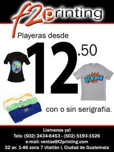 Playeras promocionales, Publicidad por Email Guatemala EmailECO Sitio Web: www.emaileco.info