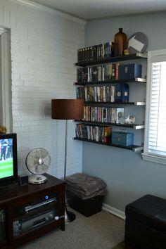 Lansdowne Life: Open shelving for DVD storage