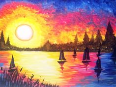 I am going to paint Sunset Regatta at Pinot's Palette - Sanderlin to discover my inner artist!