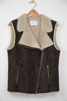 Velvet by Graham & Spencer Anila Sherpa Moto Vest