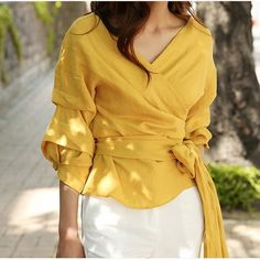 Sexy Plain Deep V Collar Puff Long Sleeve Bowknot Front Blouse t shirts plus size t shirts plus size outfit t shirts plus size casual t shirts plus size curves t shirts plus size products plus size t-shirts with sayings Plus Size T-Shirts Cute Sporty Outfits, Crop Top Outfits, Classy Outfits, Stylish Outfits, Trendy Plus Size Shirts, Plus Size Blouses, Plus Size Outfits, Fashion Mode, Fashion Outfits
