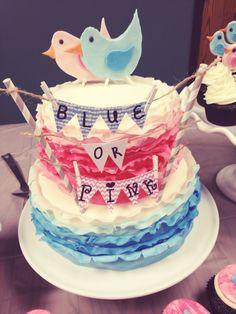 Gender Reveal Cake!!