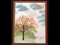 10 quick and easy cards using stampin up Sheltering tree stamp set
