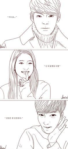 """Woo Bin, Shinhye, Lee Min Ho ♡ #Kdrama // The """"HEIRS"""" Fan Art"""