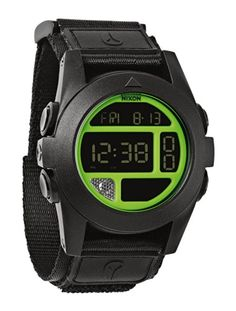 Men's Wrist Watches - Nixon  Baja  Black  Neon Green * Read more reviews of the product by visiting the link on the image.