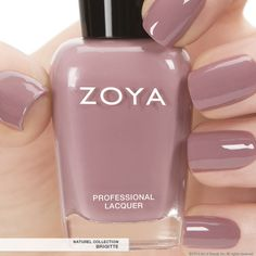 Zoya Nail Polish in Brigitte a full-coverage, bombshell mauve cream...from the Naturel Collection