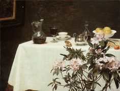 Still Life Corner of a Table by Fantin-Latour (b 14 Jan 1836) - Henri Fantin-Latour – Wikipedia