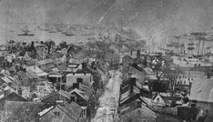 Aerial View of Cornhill St to City Dock... Annapolis, MD... circa 1876-1877 Aerial View, Childhood Memories, Old School, Past, City, Pictures, Painting, Photos, Past Tense
