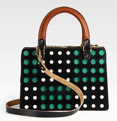 Marni Perforated Top Handle Bag
