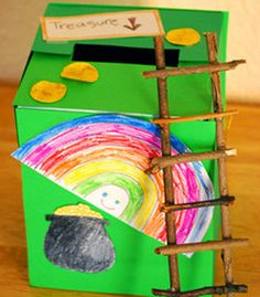 Leprechaun trap - An alternative is to make this a writing activity instead:  How to catch a leprechaun (list materials needed, steps to construct, where to place trap, and what your three wishes would be if you catch one).