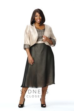 Chic plus size jacket dress SC3053 | Sydney's Closet
