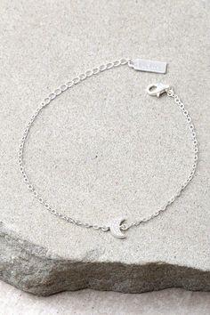 Moon Landing Sterling Silver Rhinestone Moon Choker Necklace