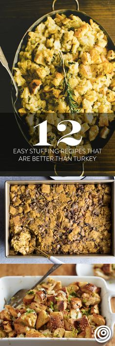 12 Unique and Easy Stuffing (or Dressing) Recipes That Are Better Than Turkey. Good stuffing complements the bird, but the BEST stuffing recipe outshines it! Try one of these southern-inspired side di (Best Christmas Turkey)
