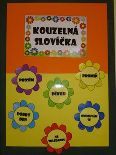 kouzelná slovíčka - šablony ze sparklebox.co.uk School Classroom, Classroom Decor, Diy And Crafts, Crafts For Kids, Team Builders, Class Displays, Classroom Management, Art For Kids, Kindergarten