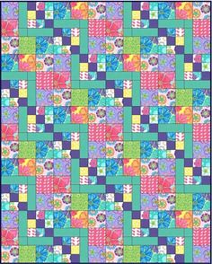 Simply Delightful Quilt Pattern #431 via Craftsy