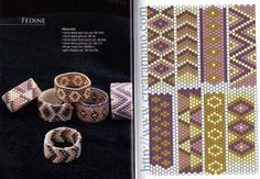 Peyote patterns for a beautifull ring Más Peyote Beading, Seed Bead Patterns, Peyote Patterns, Jewelry Patterns, Beading Patterns, Seed Bead Jewelry, Beaded Jewelry, Bead Loom Patterns, Loom Bracelets
