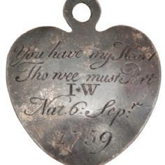Token left by mother who had to give up her child to the London Foundling Hospital, 1759 (LFH Museum)