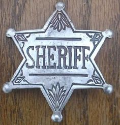 images of old sheriff's badges | Old West Sheriff Badges